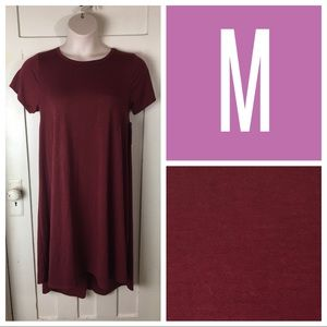 NWT LuLaRoe Carly Dress, Cranberry, M